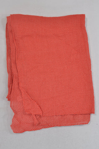Country Road Red Dotty Lightweight Scarf Women