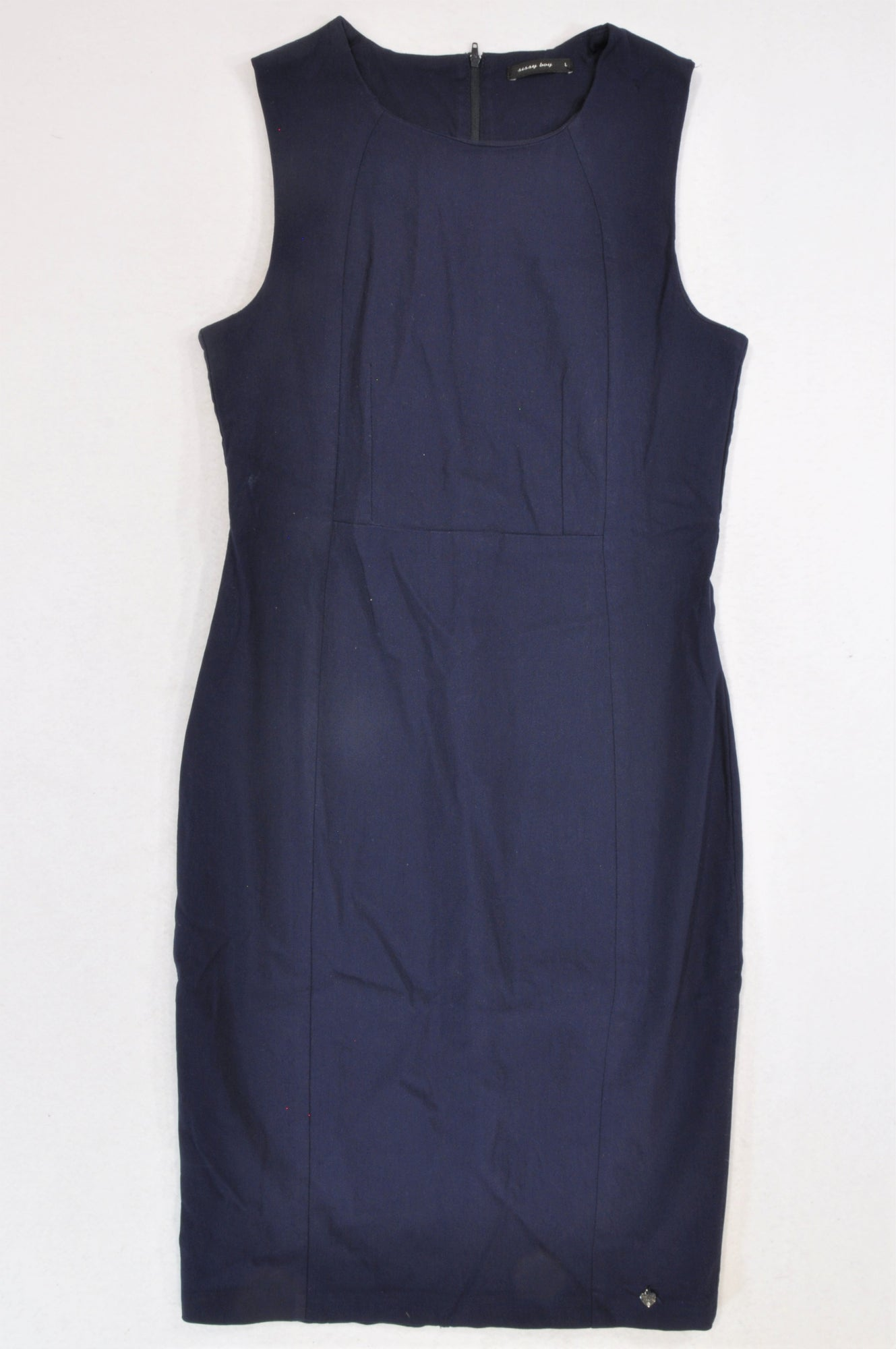 Sissy Boy Navy Formal Straight Fit Dress Women Size S