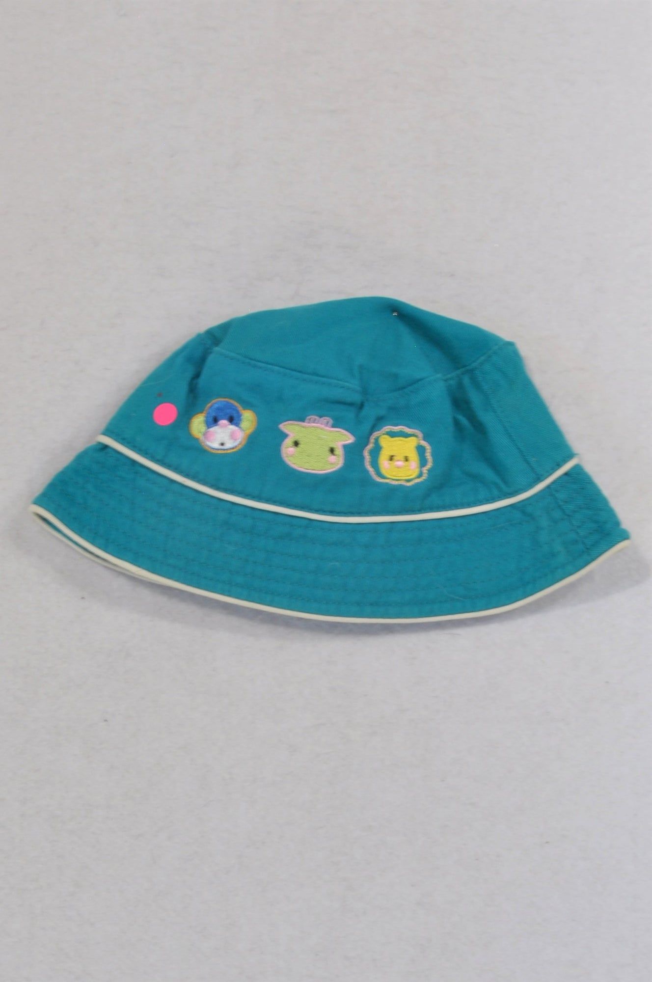 Unbranded Teal Animal Embroidered Animal Hat Unisex 0-3 months
