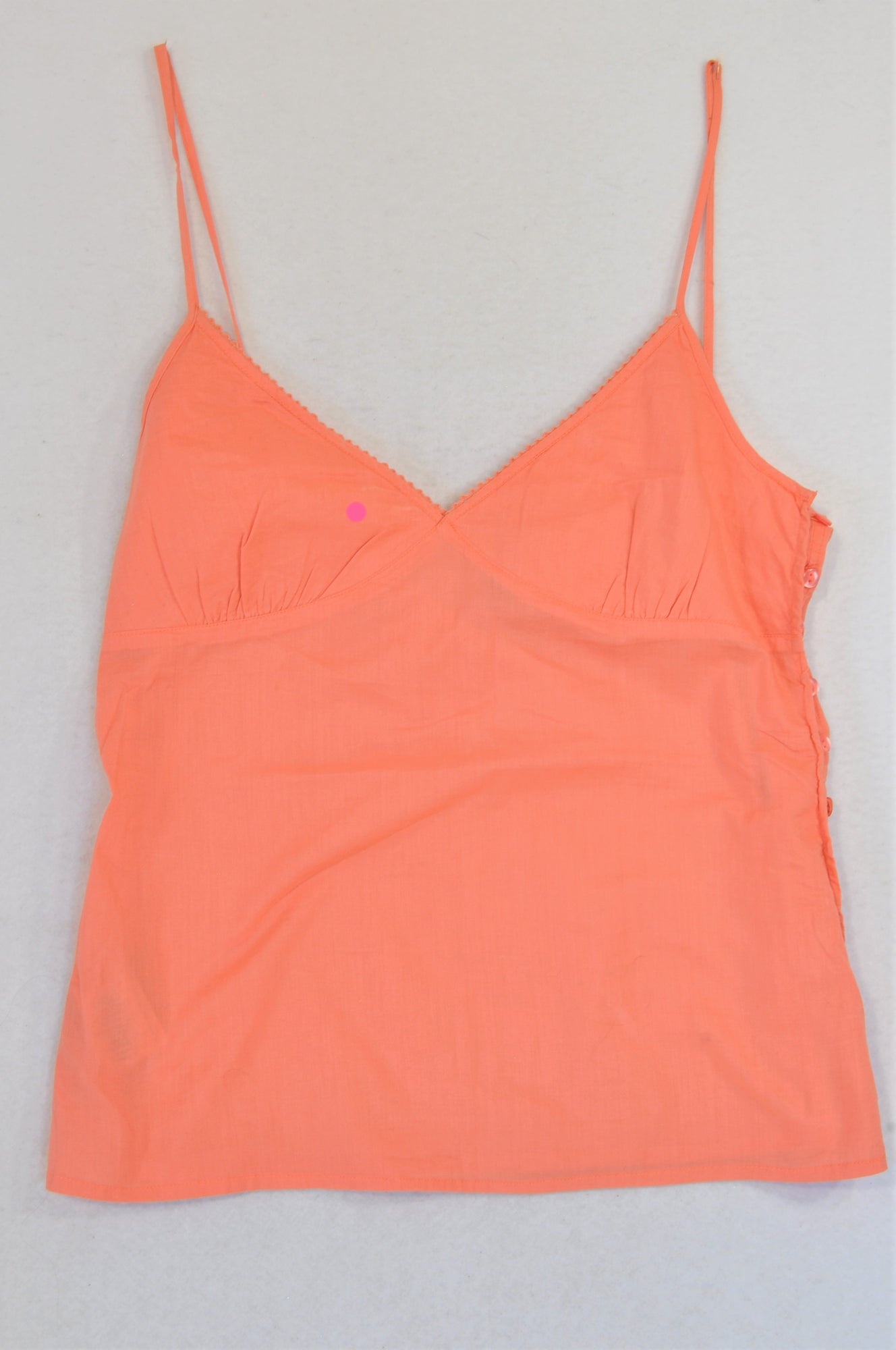 Mng Basics Orange Side Button Strappy Tank Top Women Size M