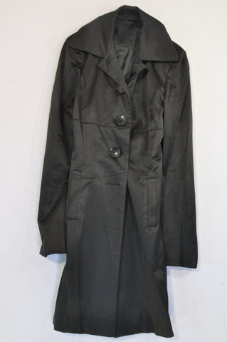 Truworths Black Metallic Look Lightweight Coat Women Size 30