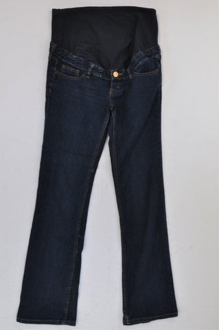 H&M Dark Wash Bootleg Maternity Jeans Size 36