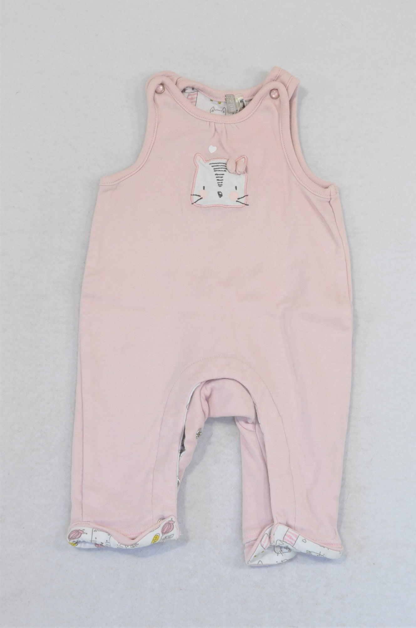 Orchestra Pink Kitten Bow Romper Girls N-B