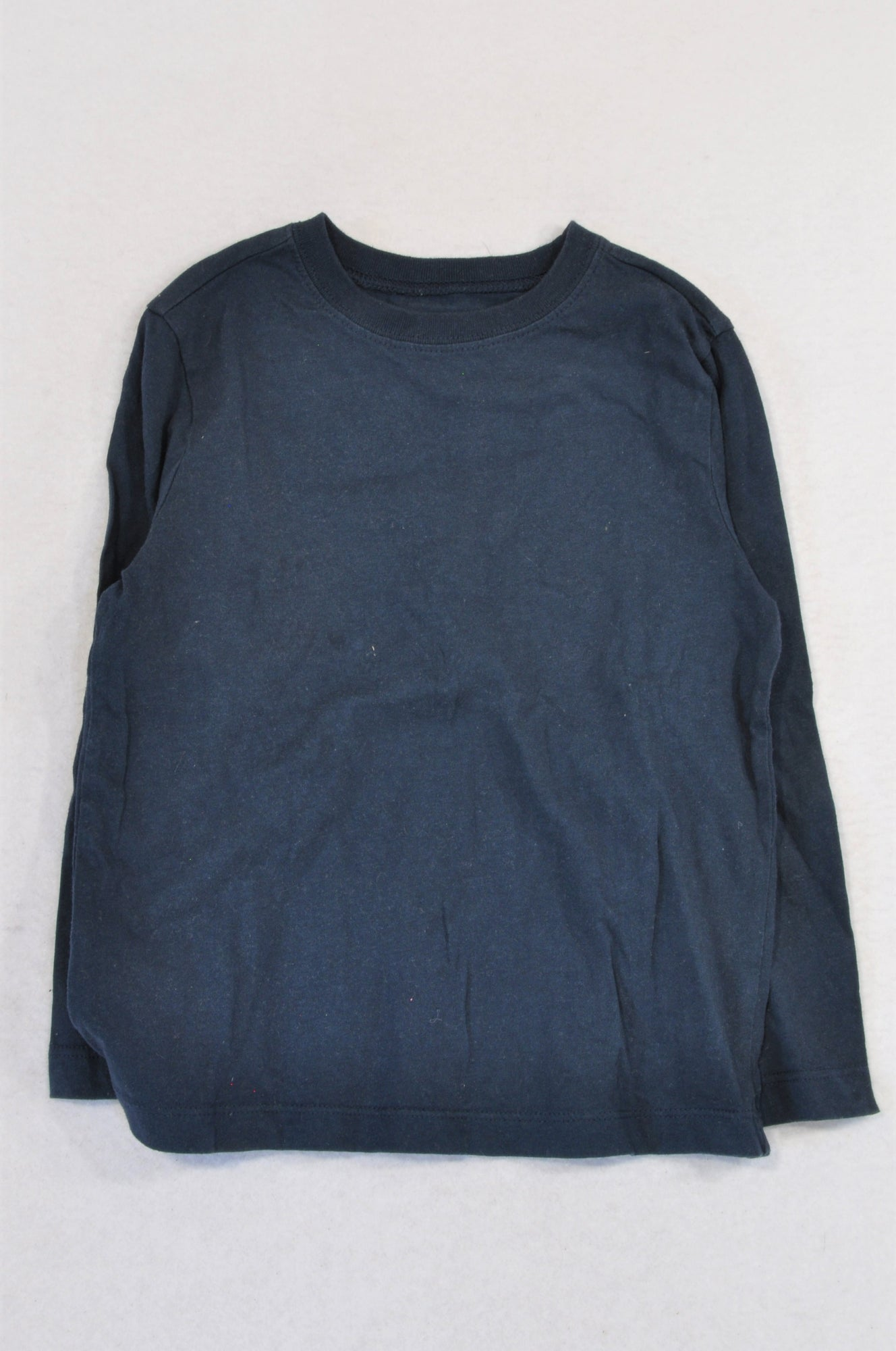 Woolworths Basic Navy Long Sleeve T-shirt Unisex 4-5 years