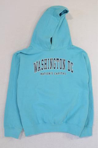 Prairie Mountain Light Blue Washington DC Hoodie Unisex 10-12 years