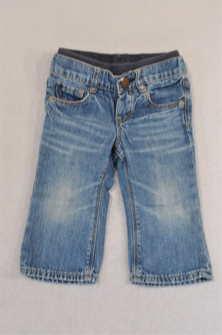 Zara Stone Washed Denim Banded Jeans Boys 6-12 months