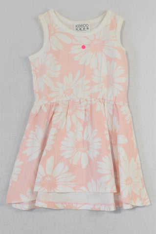 Keedo Soft Pink Daisy Dress Girls 18-24 months