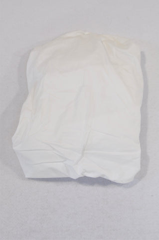 Unbranded Basic White Standard Cot Fitted Sheet Bedding Unisex N-B to 1 year