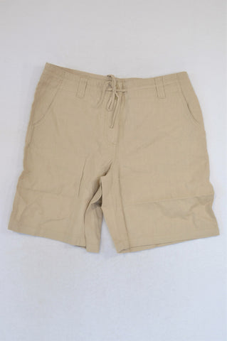 New Next Beige Tie String Shorts Women Size 12
