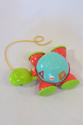 Fisher Price Green Turtle Pull Along Toy Unisex 6 months to 2 years