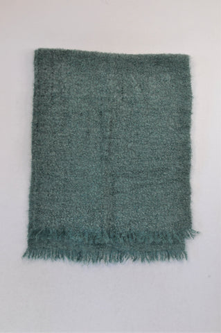 New Unbranded Sea Green Mohair Scarf Women