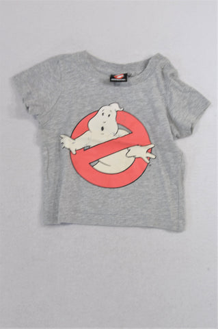 Cotton On Grey & Red Ghostbusters T-shirt Boys 6-12 months