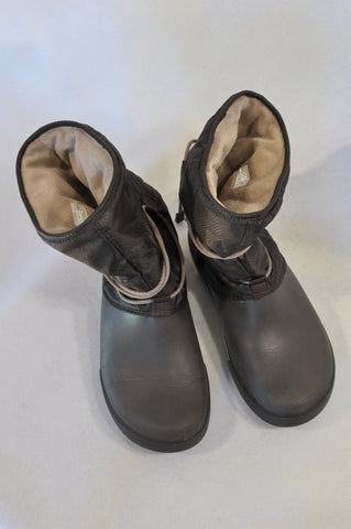 Crocs Brown Snow Boots Women Size 7