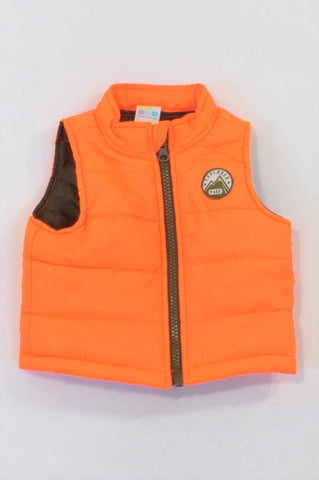 Healthtex Bright Orange Patchwork Body Warmer Unisex 0-3 months