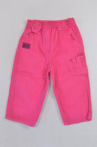 Unbranded Pink Cargo Pants Girls 18-24 months
