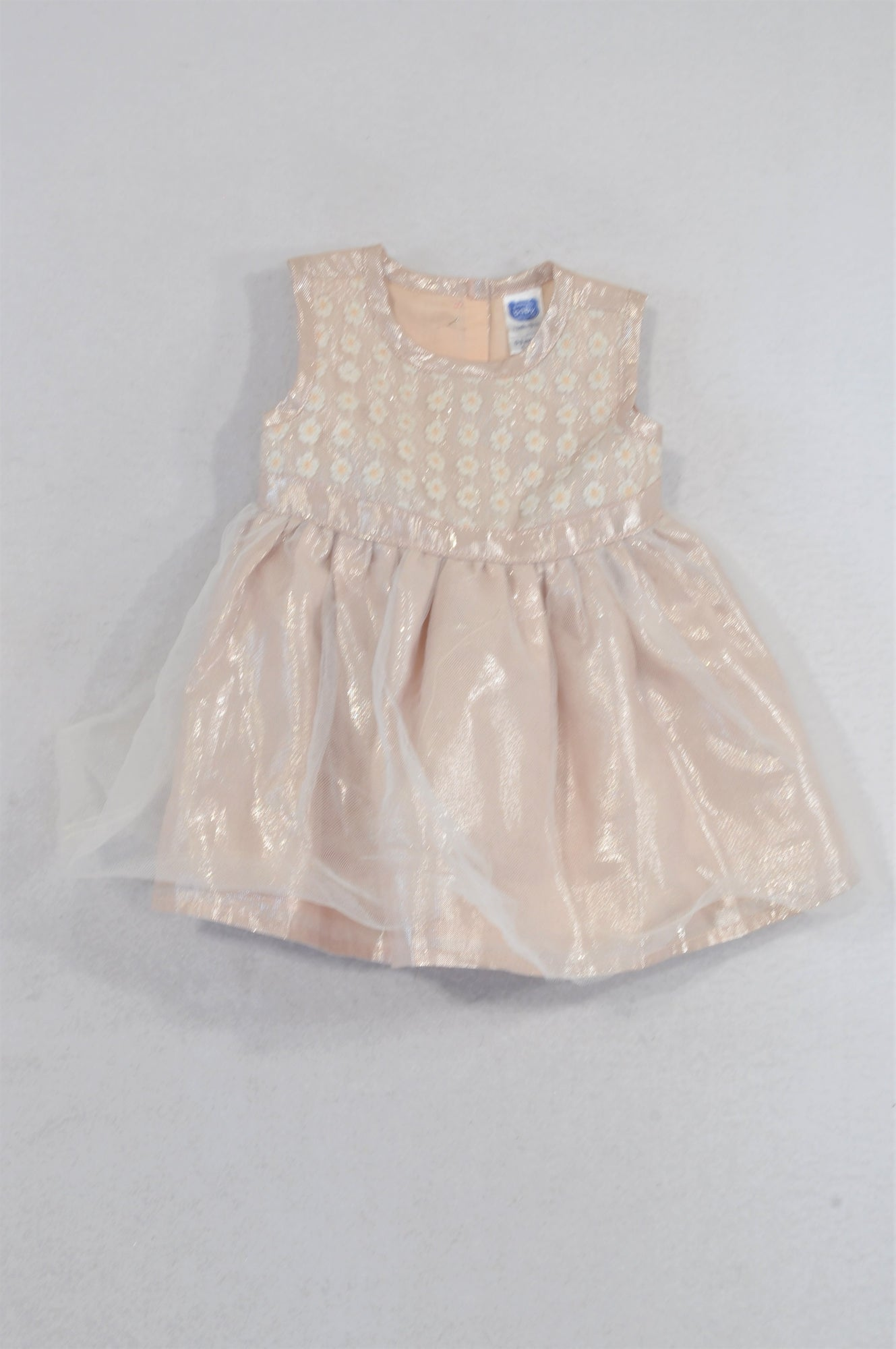 Ackermans Metallic Dusty Pink Daisy Dress Girls 0-3 months