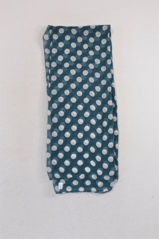 Unbranded Teal Polka Dotty Lightweight Scarf Women