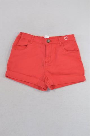 Carter's Bright Red Shorts Girls 6-7 years