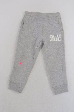 Earthchild Grey Logo Track Pants Unisex 3-4 years
