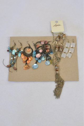 Unbranded 5 Piece Earring Set & Necklace Accessory Women