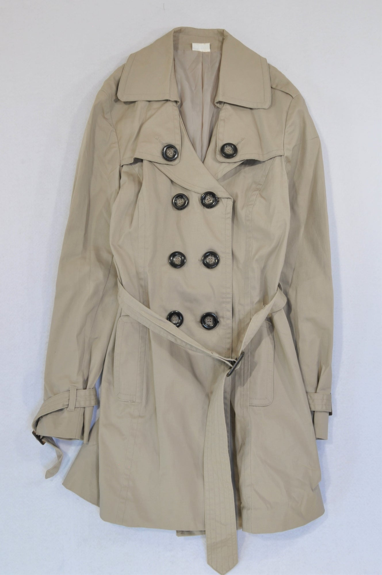 Kelso Light Brown Button Tie Coat Women Size 12