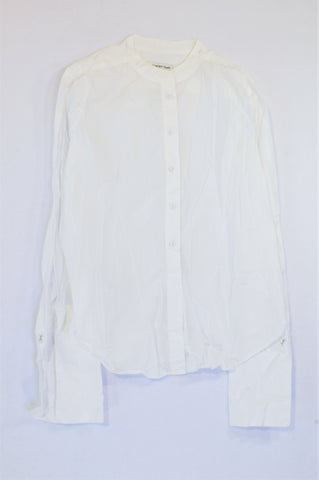 Country Road White Long Sleeve Shirt Women Size 10