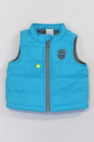 Healthtex Blue Padded Patchwork Body Warmer Boys 0-3 months