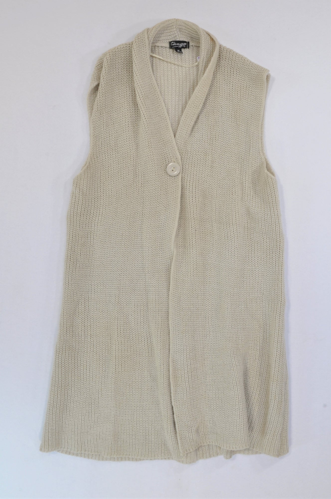 Tango Beige Cable Knit Cardigan Women Size 36