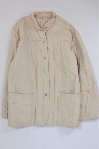 Unbranded Beige Lightweight Snap Jacket Women Size 10