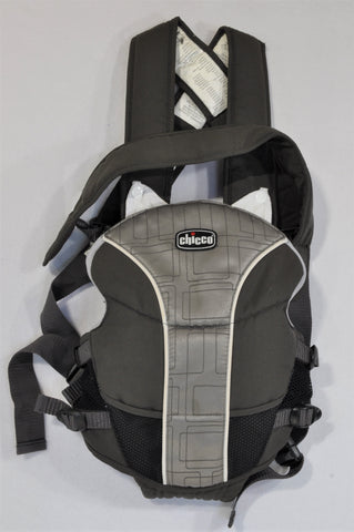 Chicco Grey & Black Mesh Baby Carrier Unisex N-B to 1 year