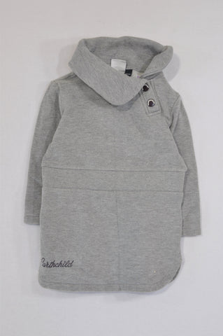 Earthchild Grey Snap Dress Girls 18-24 months