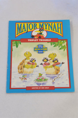 Major Mynah Triplet Trouble Book Unisex 2-6 years