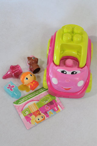 First Builders Pink Princess Mega Block Car & Building Blocks Toy Girls 2-5 years