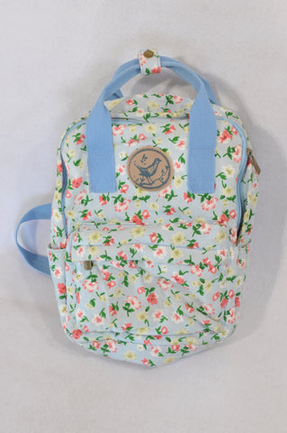 Unbranded Light Blue Flower Backpack Girls All Ages