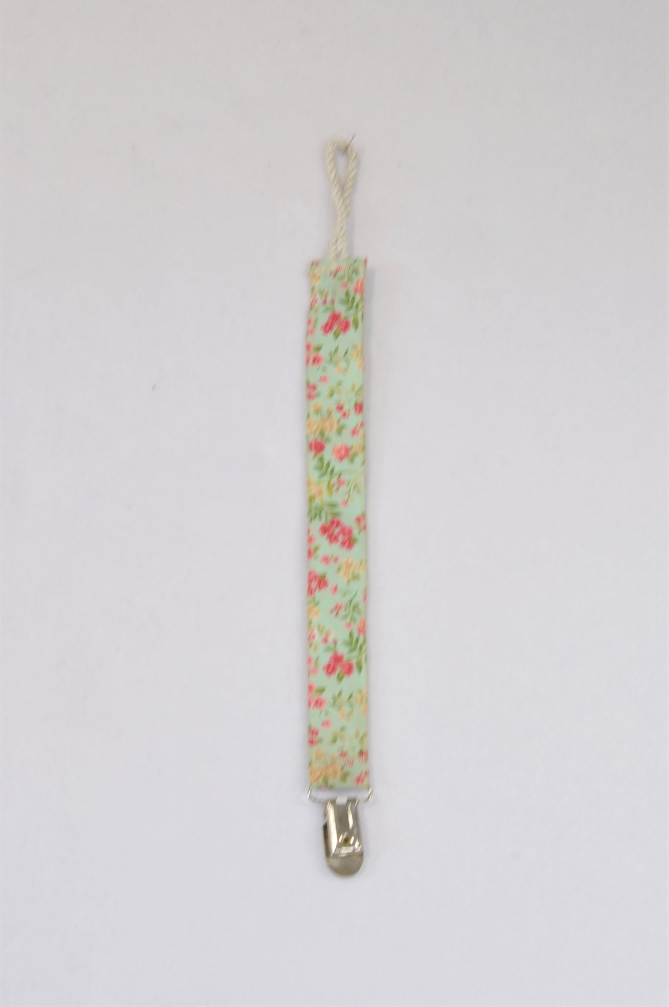 Unbranded Green Floral Dummy Clip Unisex N-B to 2 years