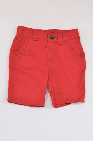HS Bright Red Pocket Shorts Boys 2-3 years