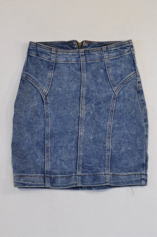 Mr. Price Stone Wash Denim Skirt Women Size 4