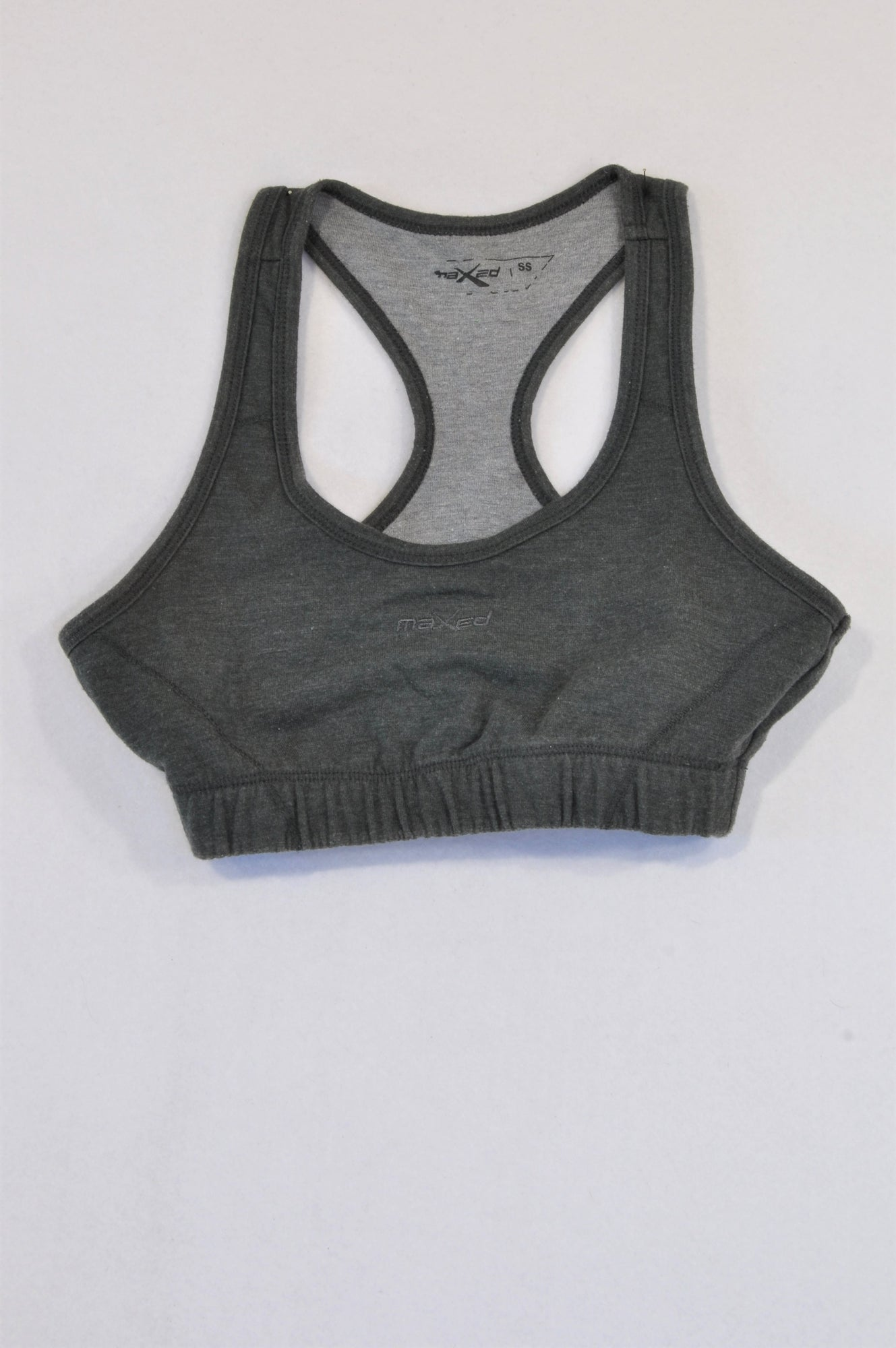 Mr. Price Basic Dark Grey Maxed Crop Sports Top Girls 6-8 years