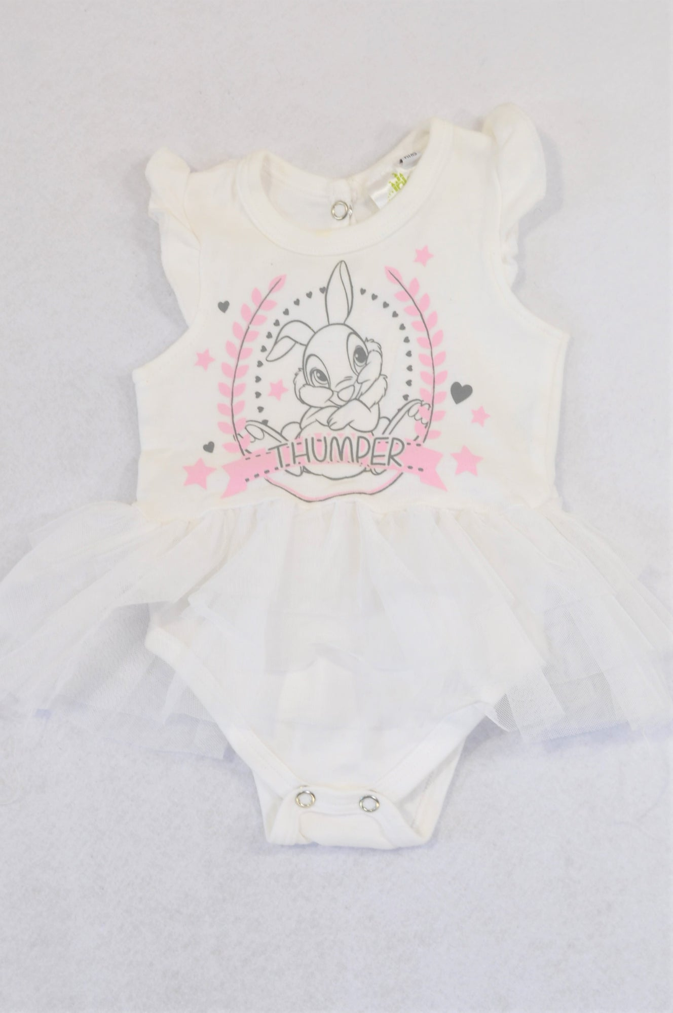 Disney White Tulle Thumper Baby Grow Girls 0-3 months