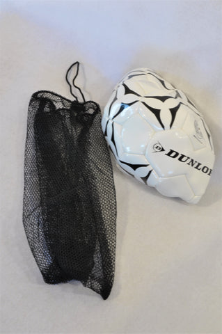 New Dunlop White & Black Soccer Net & Ball Unisex 3-10 years