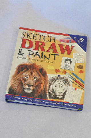 Unbranded 6 In 1 Sketch Draw & Paint Art Book Unisex 8 to 16 years
