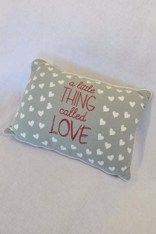 Unbranded Grey Hearts Little Thing Called Love Pillow Decor Unisex All Ages