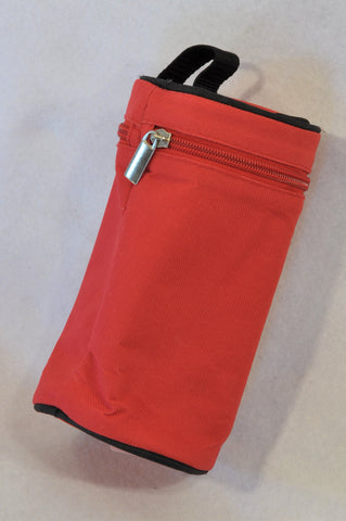 Unbranded Red Insulated Bottle Carrier Unisex N-B to 2 years