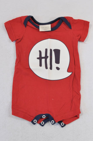 Pick 'n Pay Red Speech Bubble Hi! Romper Unisex N-B