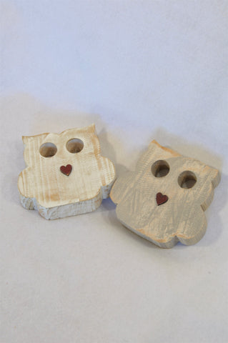 Unbranded 2 Pack Wooden Owl Decor Bundle Unisex All Ages