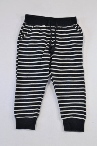 Cotton On Navy Terry Towel Cuffed Pants Boys 18-24 months