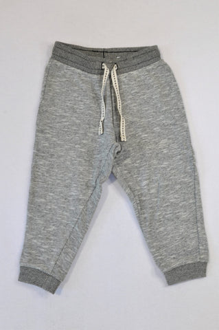 H&M Soft Grey Heather Track Pants Unisex 18-24 months