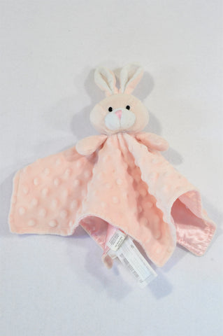 Elegant Baby Pink Sateen Lined Bunny Soother Girls N-B to 1 year