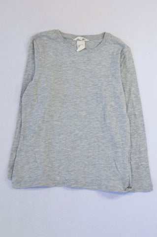 H&M Basic Grey Heathered Long sleeve T-shirt Unisex 4-5 years