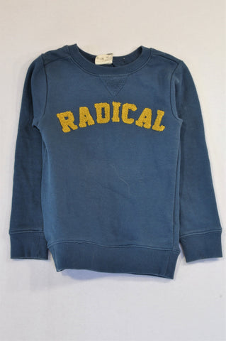 Cotton On Dusty Blue Yellow Radical Pull Over Jersey Boys 4-5 years